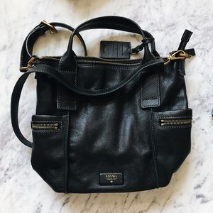 Fossil Bags - Fossil Emerson Black + antique gold